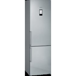 Frigorífico combinado de libre instalación, 203 x 60 cm, Acero inoxidable antihuellas Siemens KG39NAIEP