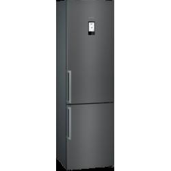 Frigorífico combinado de libre instalación, 204 x 60 cm, Black stainless steel Siemens KG39NHXEP